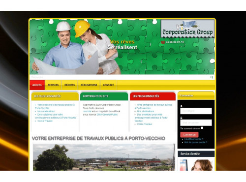 Template Joomla Corporation group 2